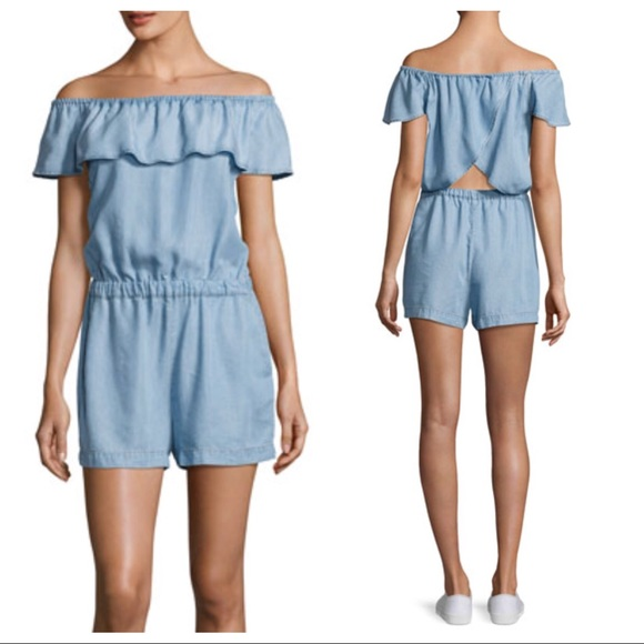 136eee68d2d SPLENDID chambray off the shoulder denim romper